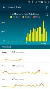 Fitbit App: hartslag
