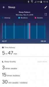 Fitbit App: overzicht slaap