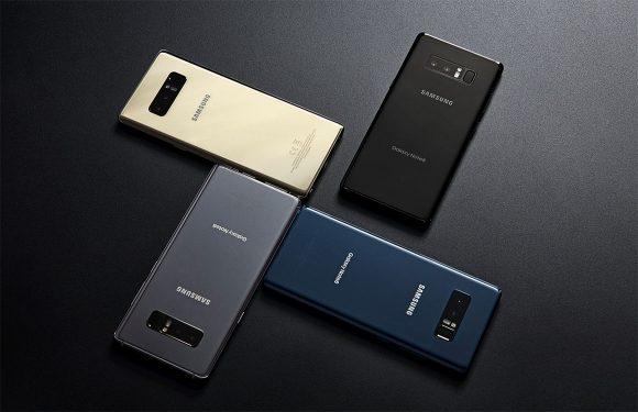 Samsung Galaxy Note 8: beschikbaar in 4 kleuren, maar niet overal.