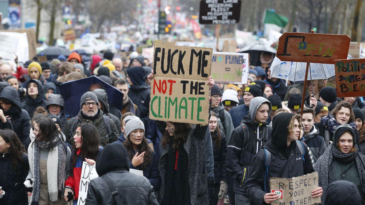 Klimaatmars van scholieren